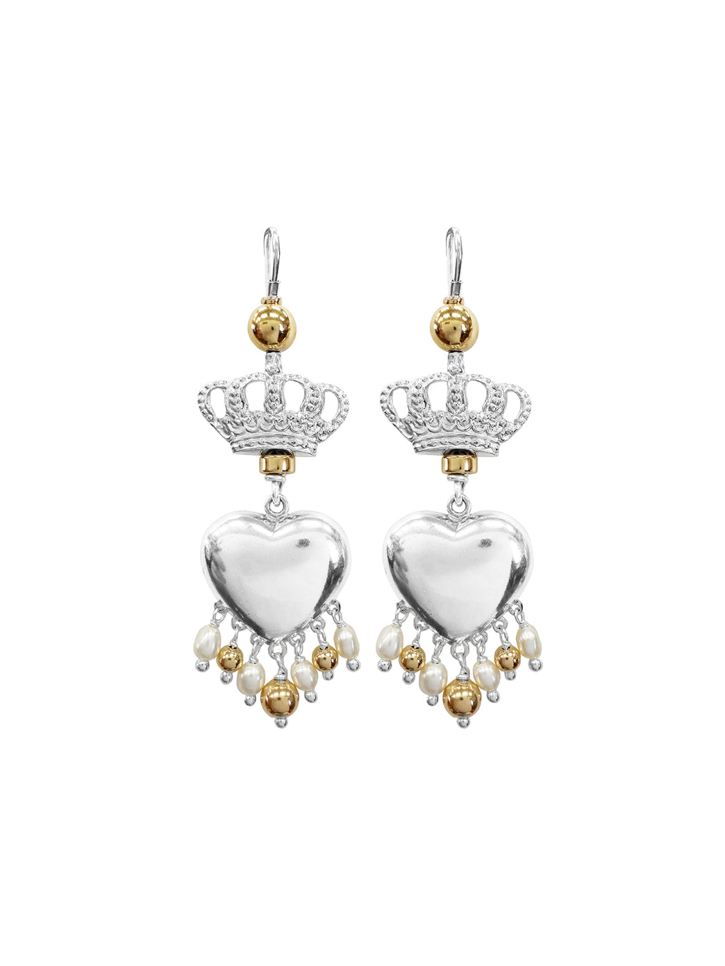 Fiorina Jewellery Royal Valentina Earrings Pearl & Gold