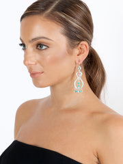 Fiorina Jewellery Serpente Earrings Turquoise Model