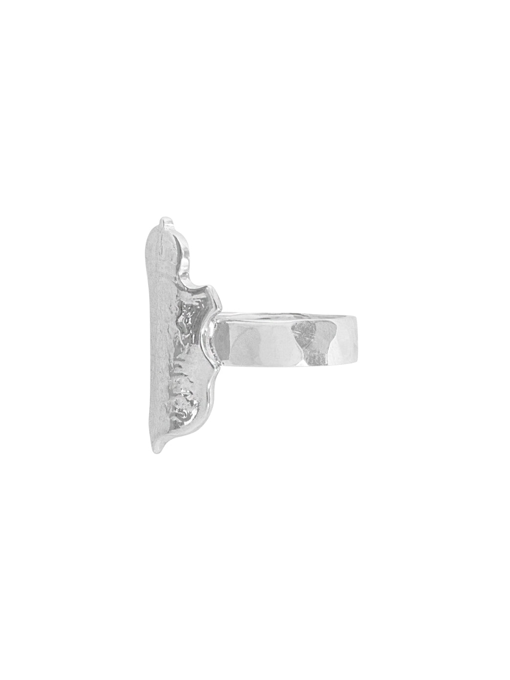 Fiorina Jewellery Shield Ring Side View