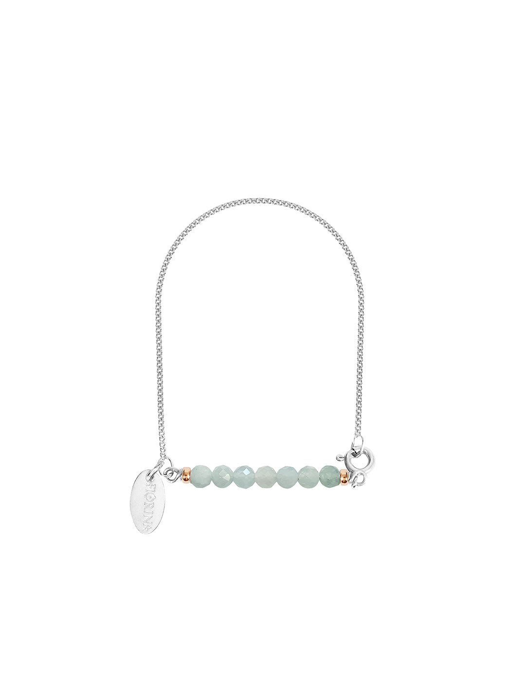 Fiorina Jewellery Silver Friendship Bracelet Aquamarine