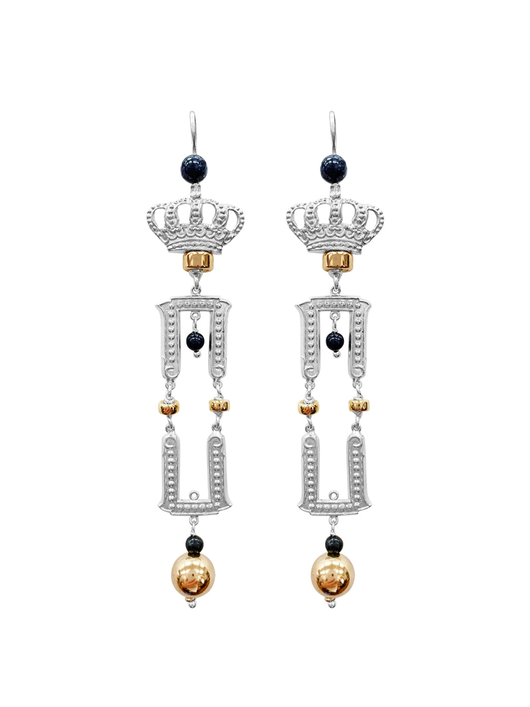 Fiorina Jewellery Sovereign Earrings Sapphire