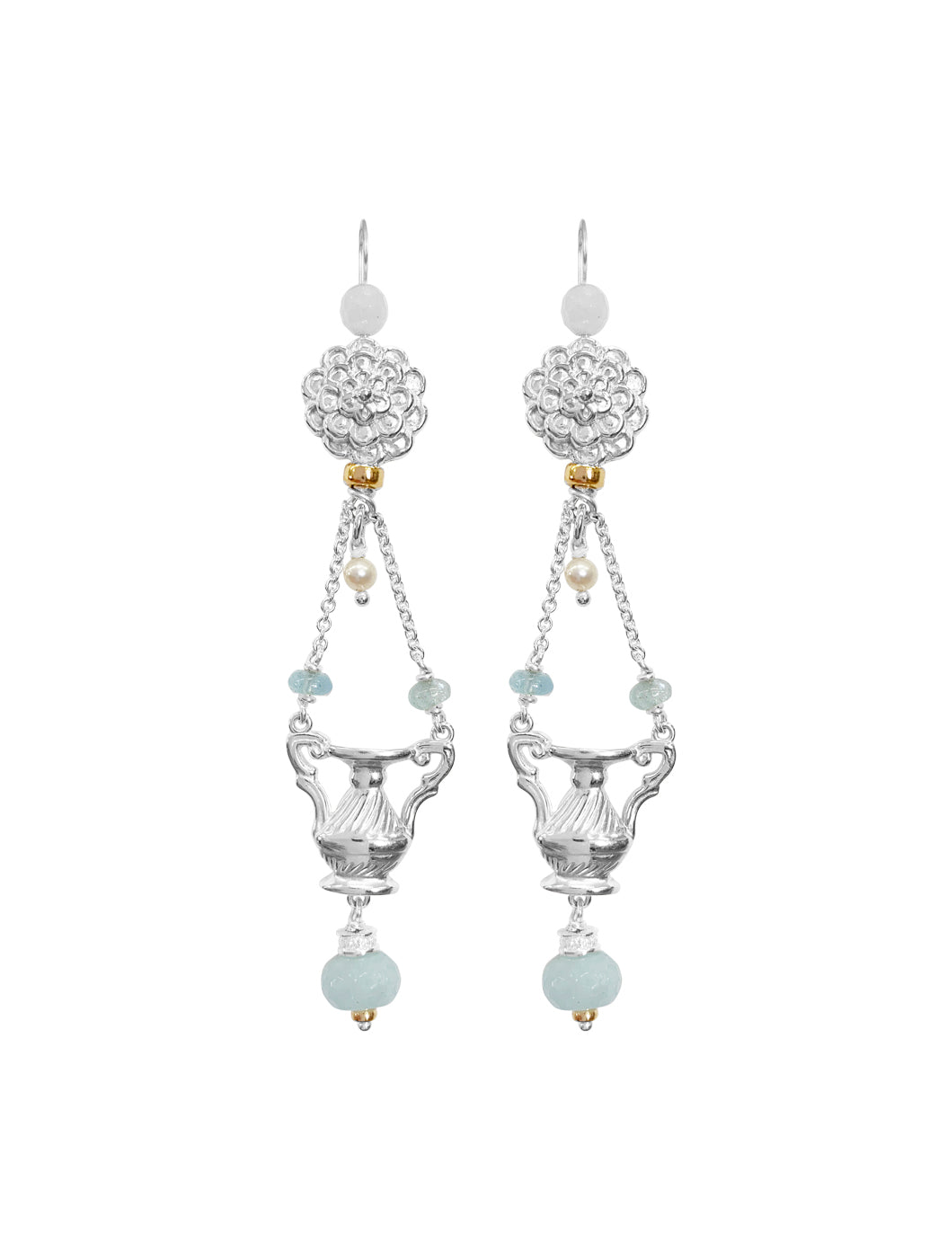 Fiorina Jewellery The Como Earrings Aquamarine