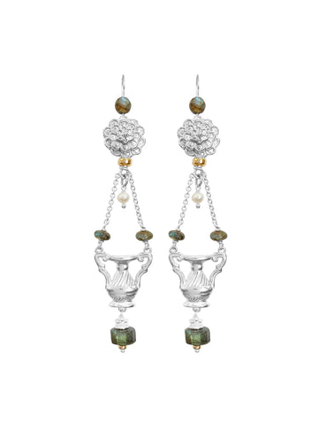 Saint Liberus Cross Earrings