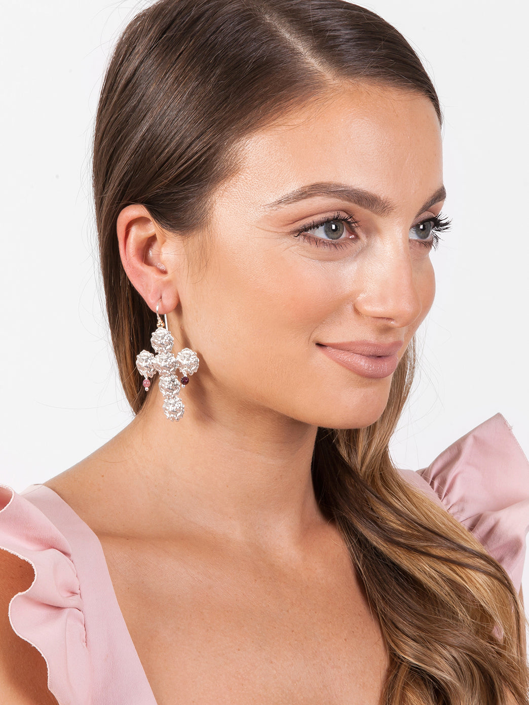 Fiorina Jewellery Trevi Cross Earrings Model