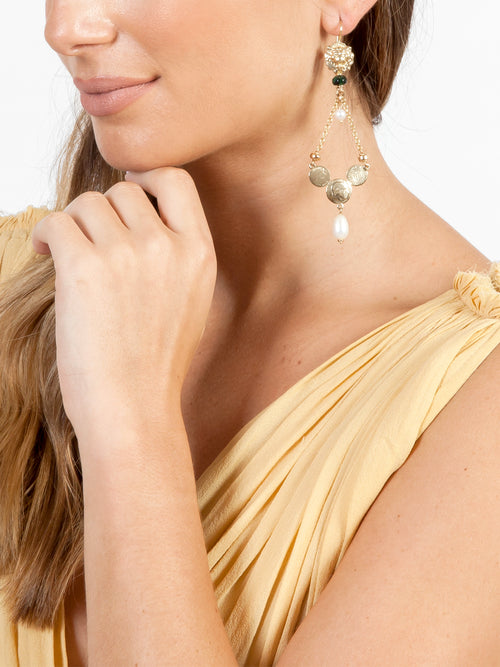 Fiorina Jewellery Gold Trevi Earrings Model