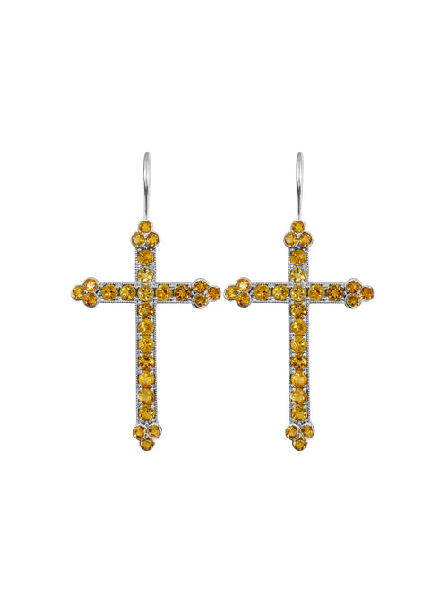 Fiorina Jewellery Victoria Cross Citrine Earrings