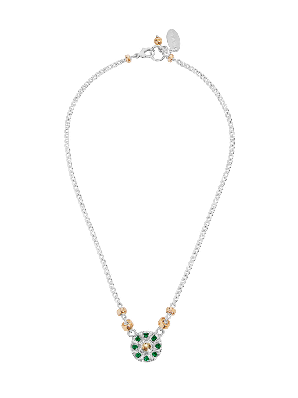 Fiorina Jewellery Wheel Necklace Emerald