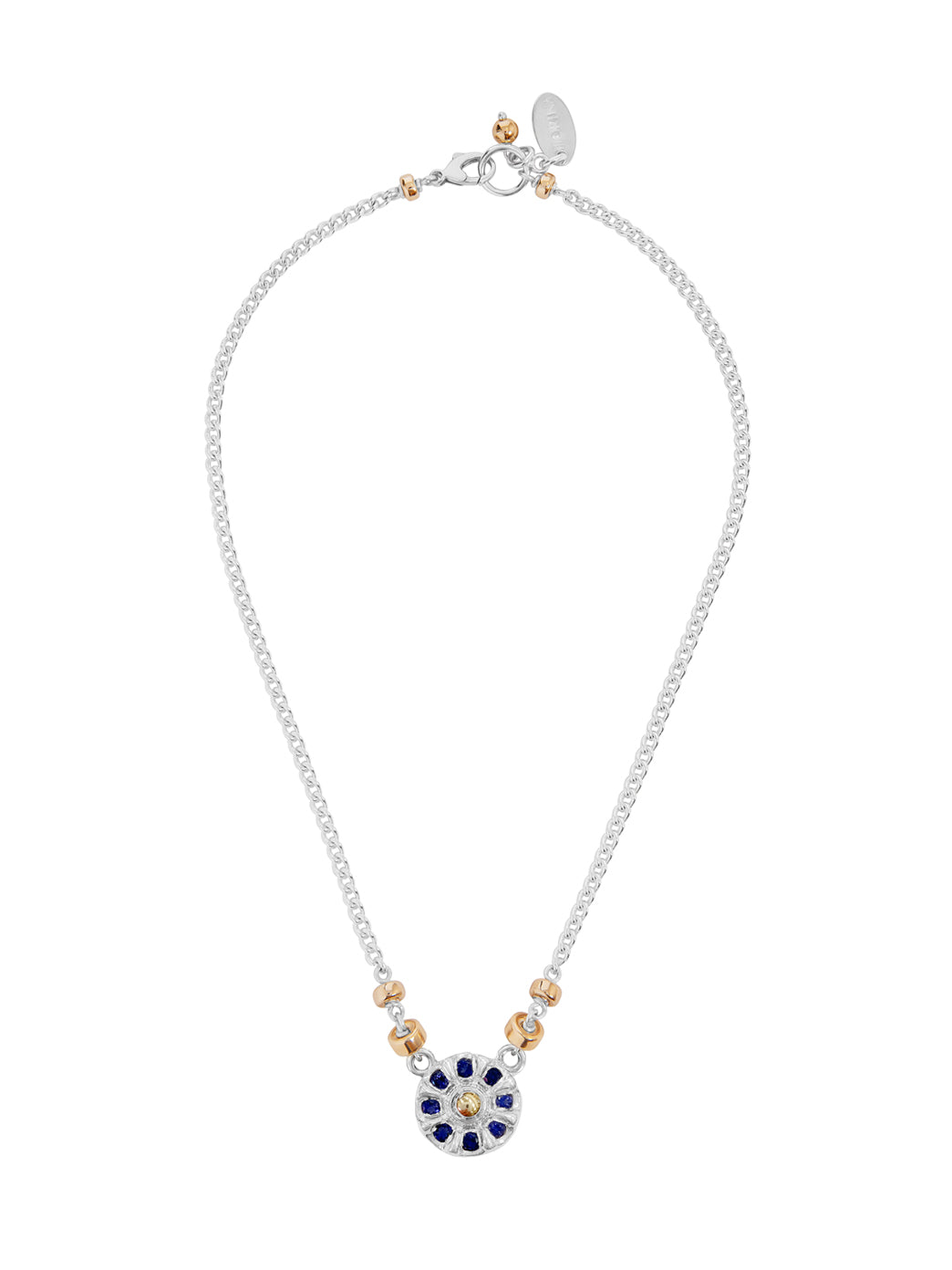 Fiorina Jewellery Wheel Necklace Iolite