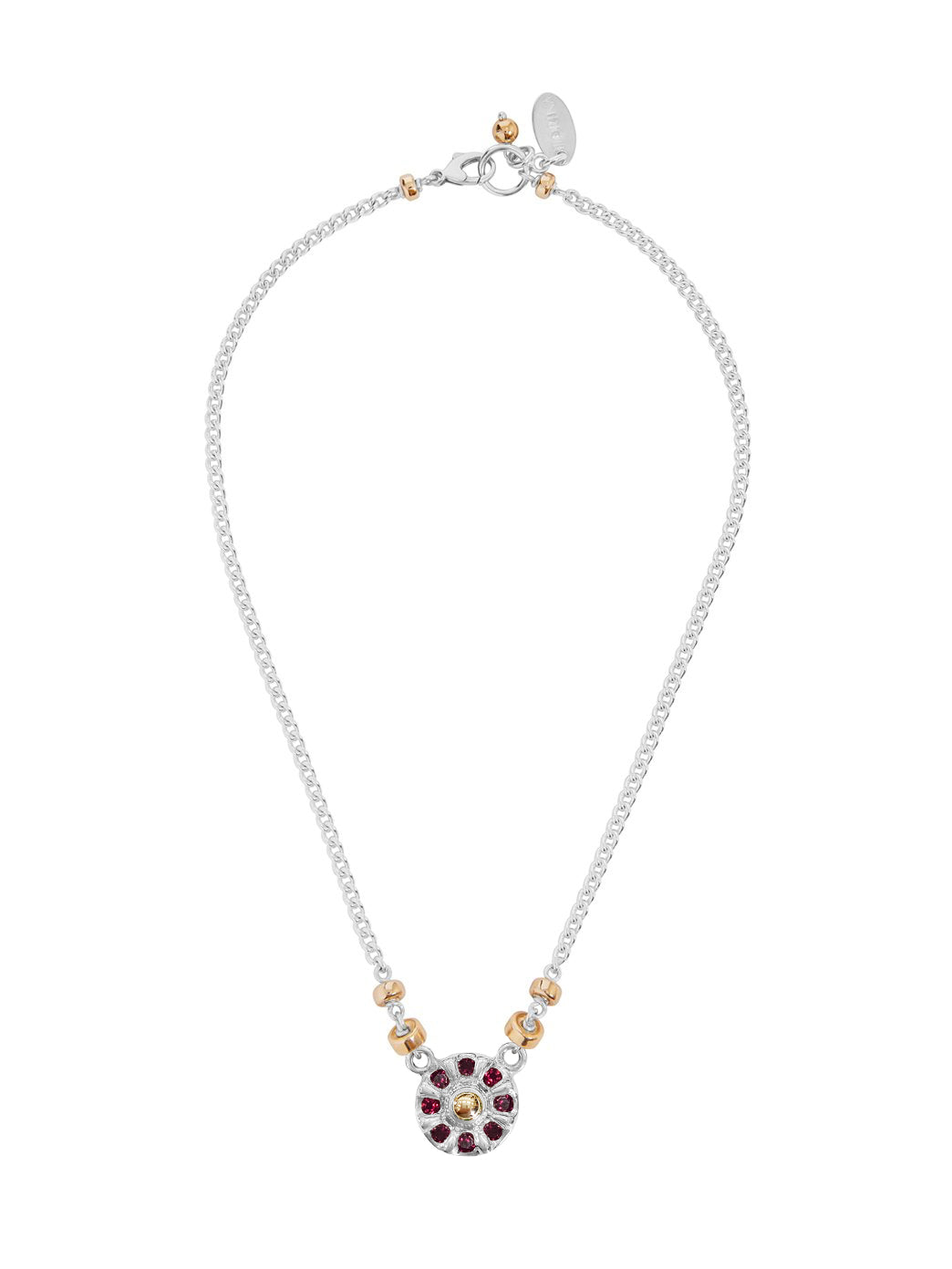 Fiorina Jewellery Wheel Necklace Ruby