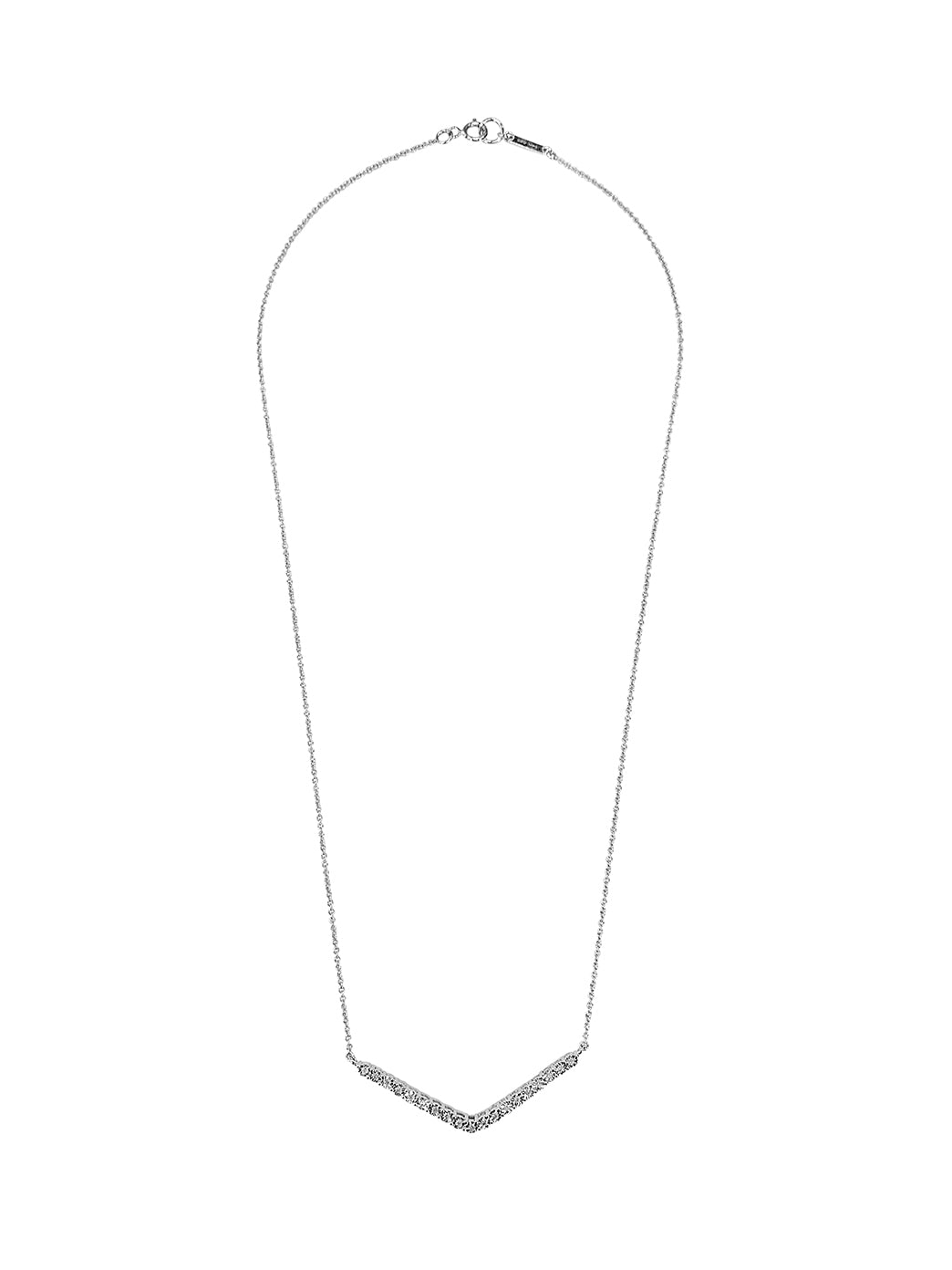 Fiorina Jewellery White Gold Diamond V Necklace