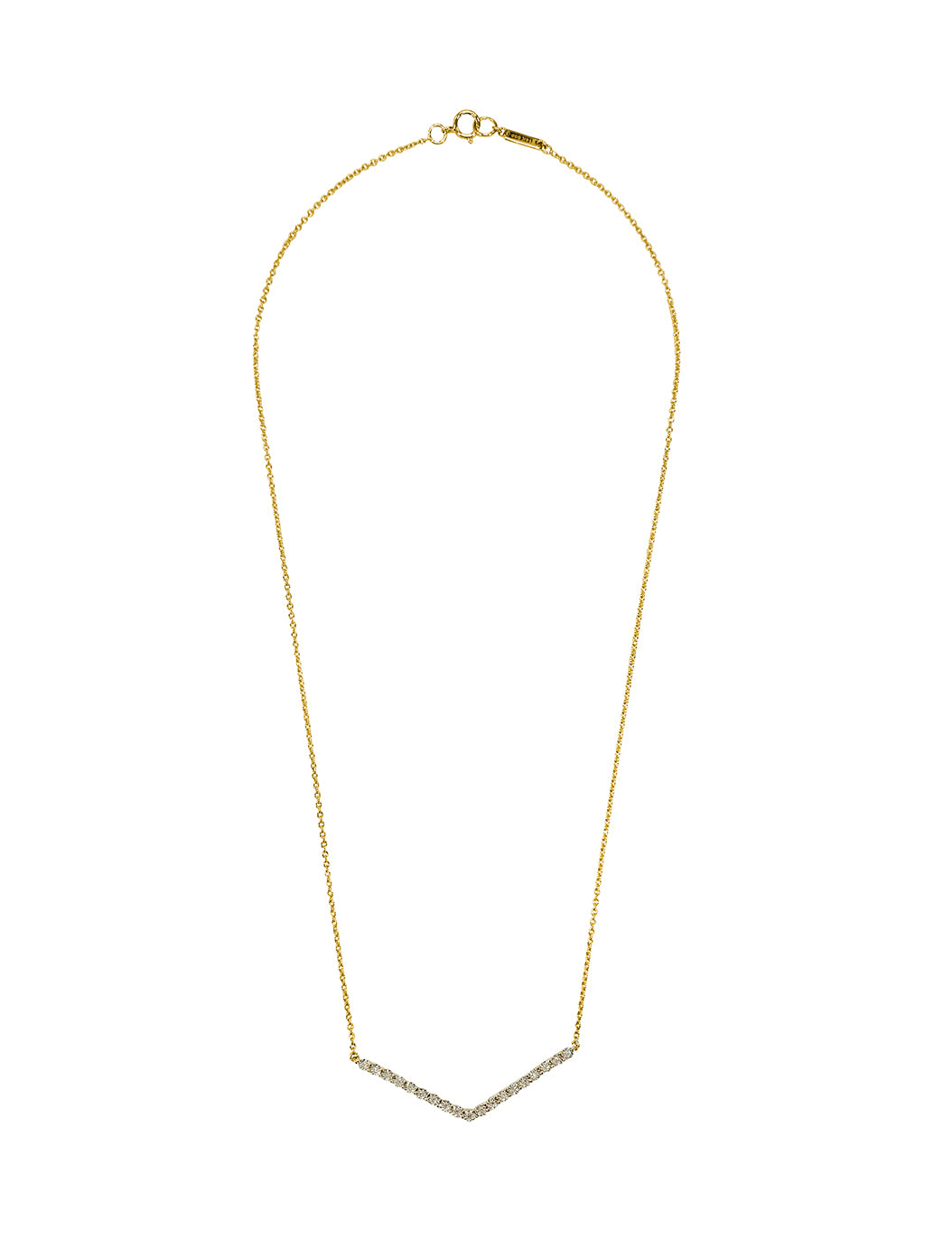 Fiorina Jewellery Yellow Gold Diamond V Necklace