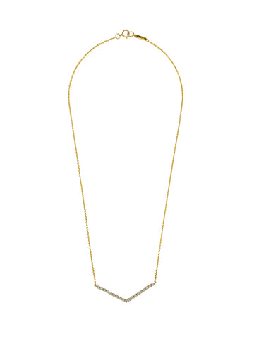 Elite Gold Button Necklace