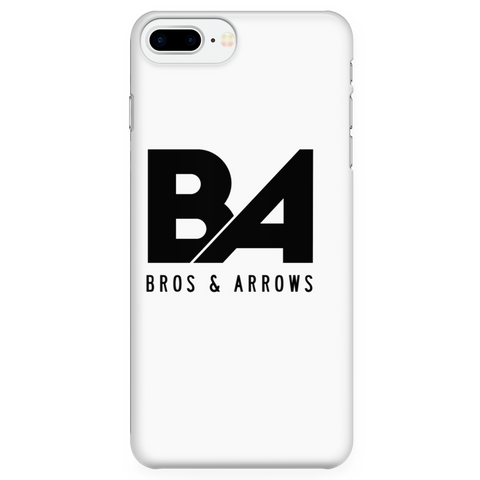 White iPhone 7 Plus/7s Plus Simple Logo Case