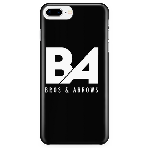 Black iPhone 7 Plus/7s Plus Simple Logo Case