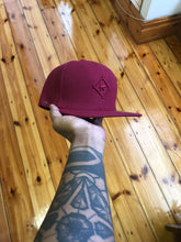 Crossed Snapback Burgandy