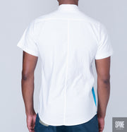 Blue Ocean White Shirt