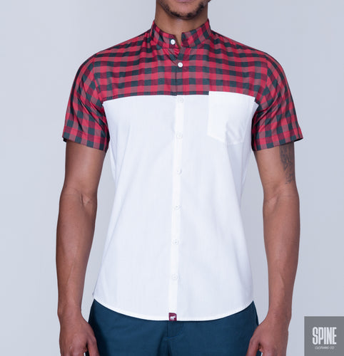 Red Tartan White Shirt