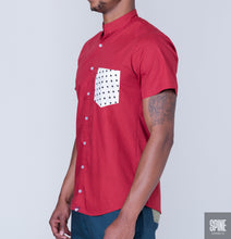 Red Cubed Shirt