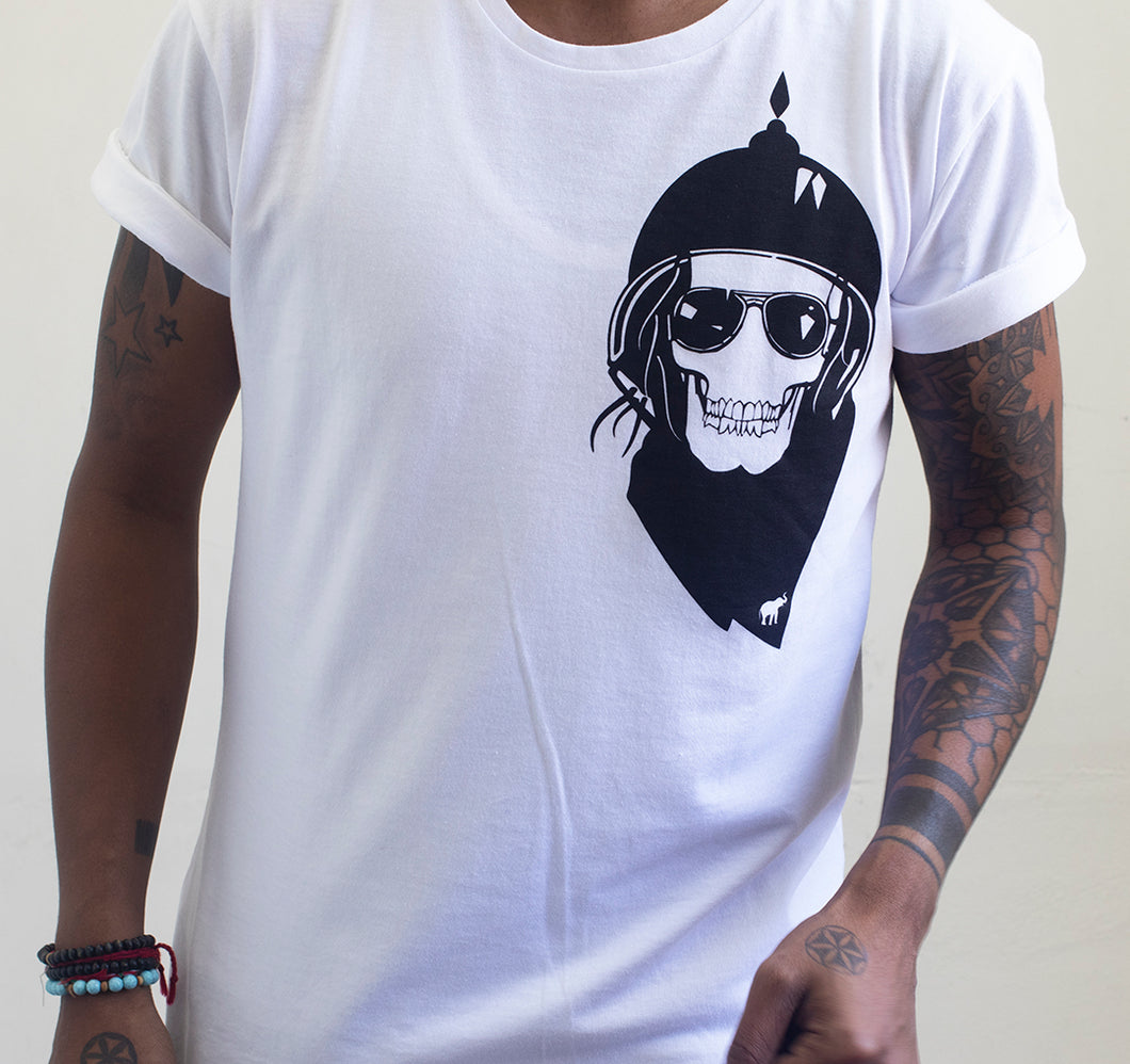 Bandit White Extra Length Tee