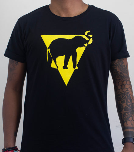 Black Yellow Ele Triangle Tee