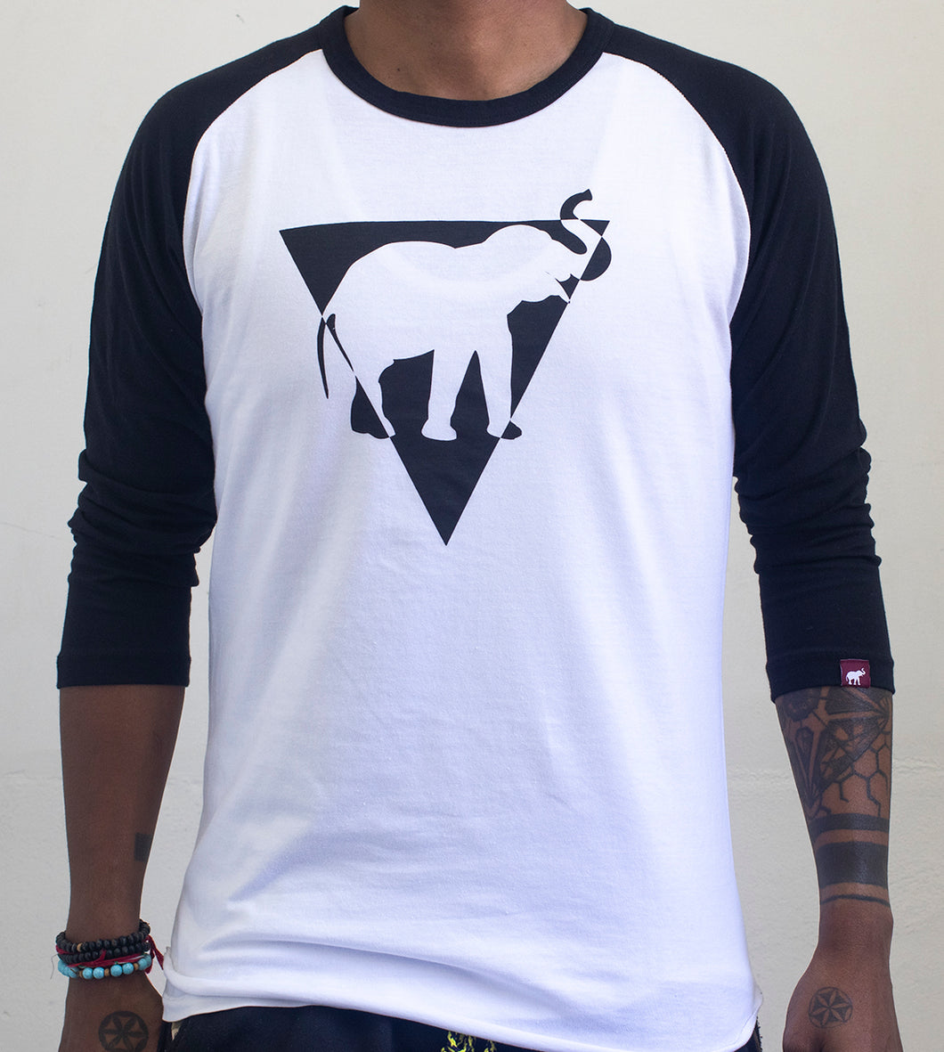 Black Eye Triangle Baseball tee