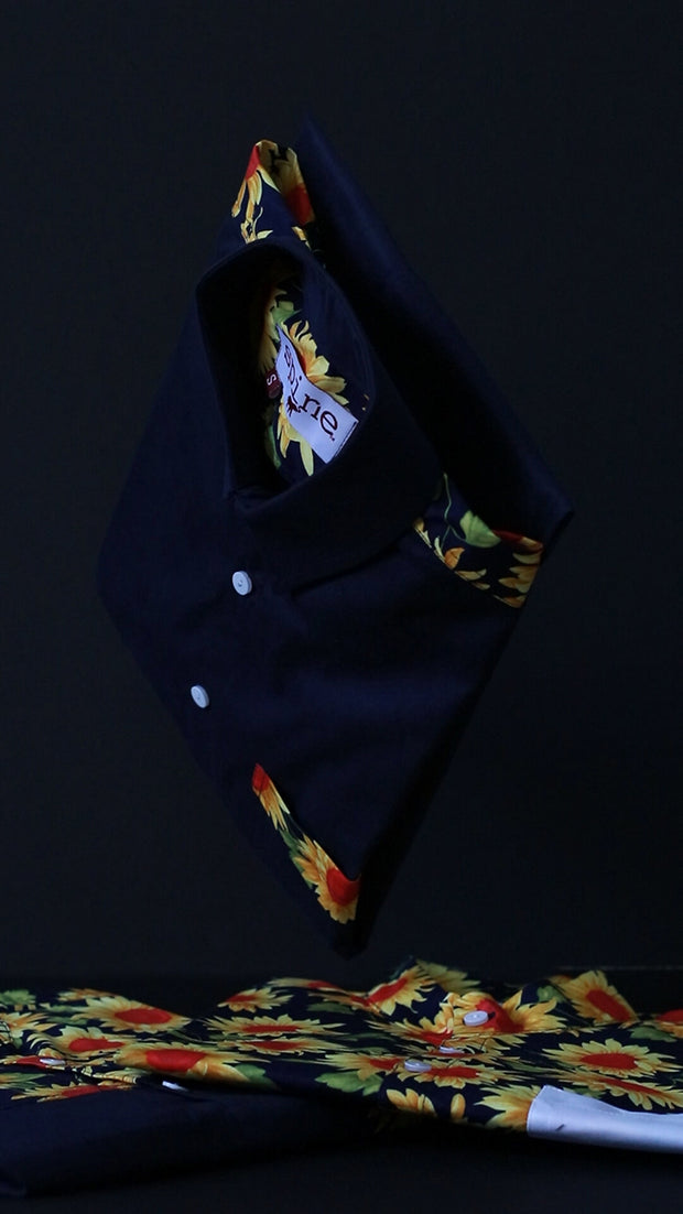 Sunflower Trim+Navy Shirt