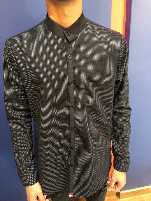 Black Polka Dot L/S Shirt