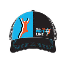 illustration of blue technical trucker hat