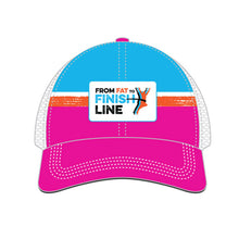 illustration of pink technical trucker hat