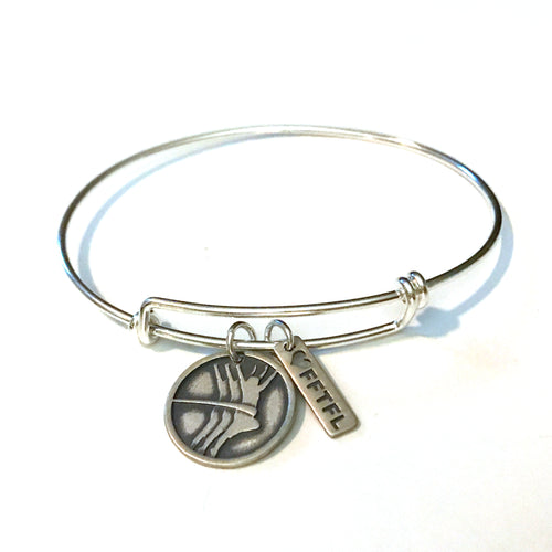 Scott James Jewelry bangle bracelet with two charms