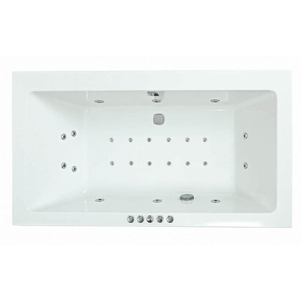 RECTANGULARO No. 7 AMANZONITE 1800x1000mm Double Ended Bath System 1