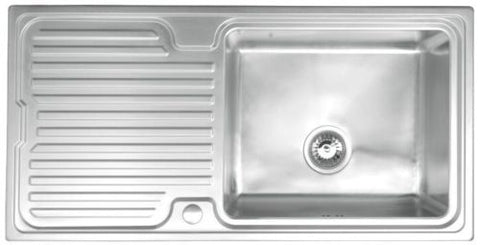 Avon 1.0 Bowl Stainless Steel Kitchen Sink L/H