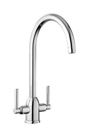 Rangemaster Cruciform Brushed Steel Kitchen Sink Mixer Tap TCF2CM