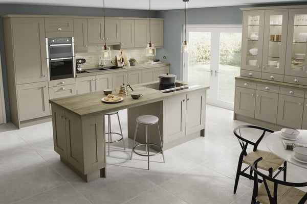7 Piece Kitchen Units - Dakar Textured Shaker Style 22mm Door Rigid Built