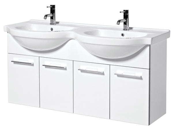 1200mm Wall Mounted Base Unit And Basin - FH120W Bathroom Vanity Storage