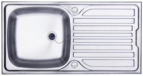 Illinois 1.0 Bowl Stainless Steel Kitchen Sink Deep Bowl & Waste-J
