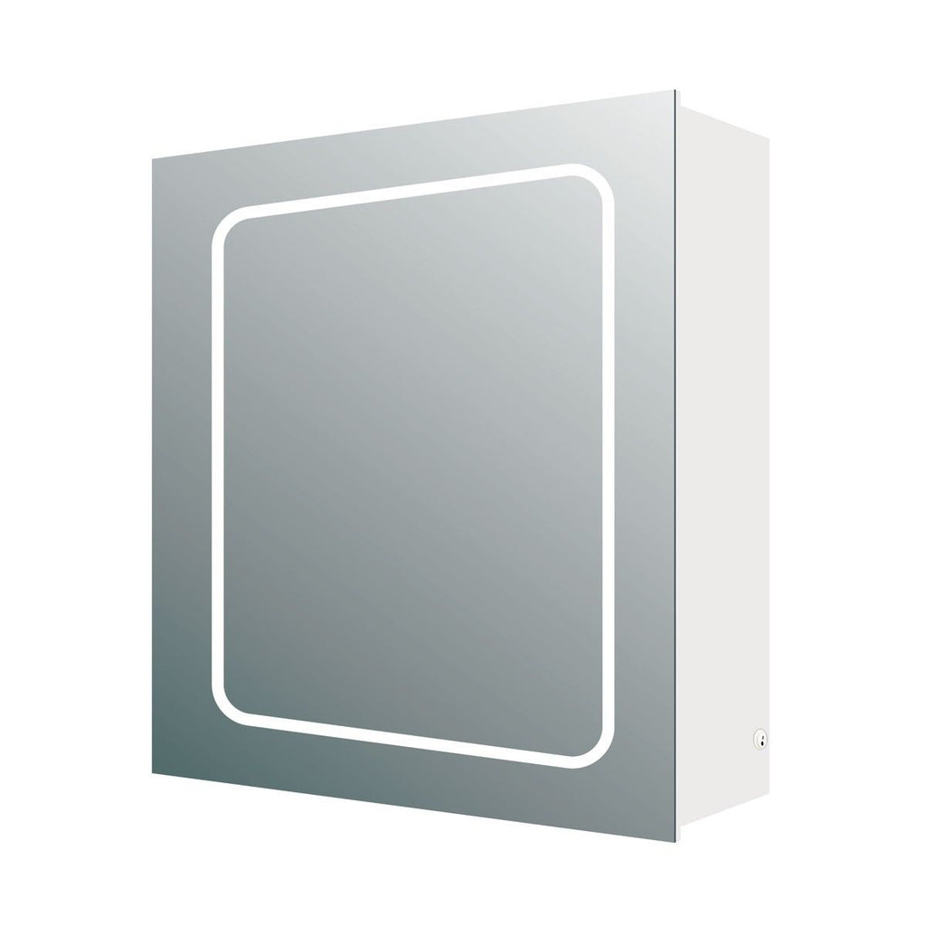 Sammy Single Door LED Mirrored Wall Cabinet 630x500x150mm