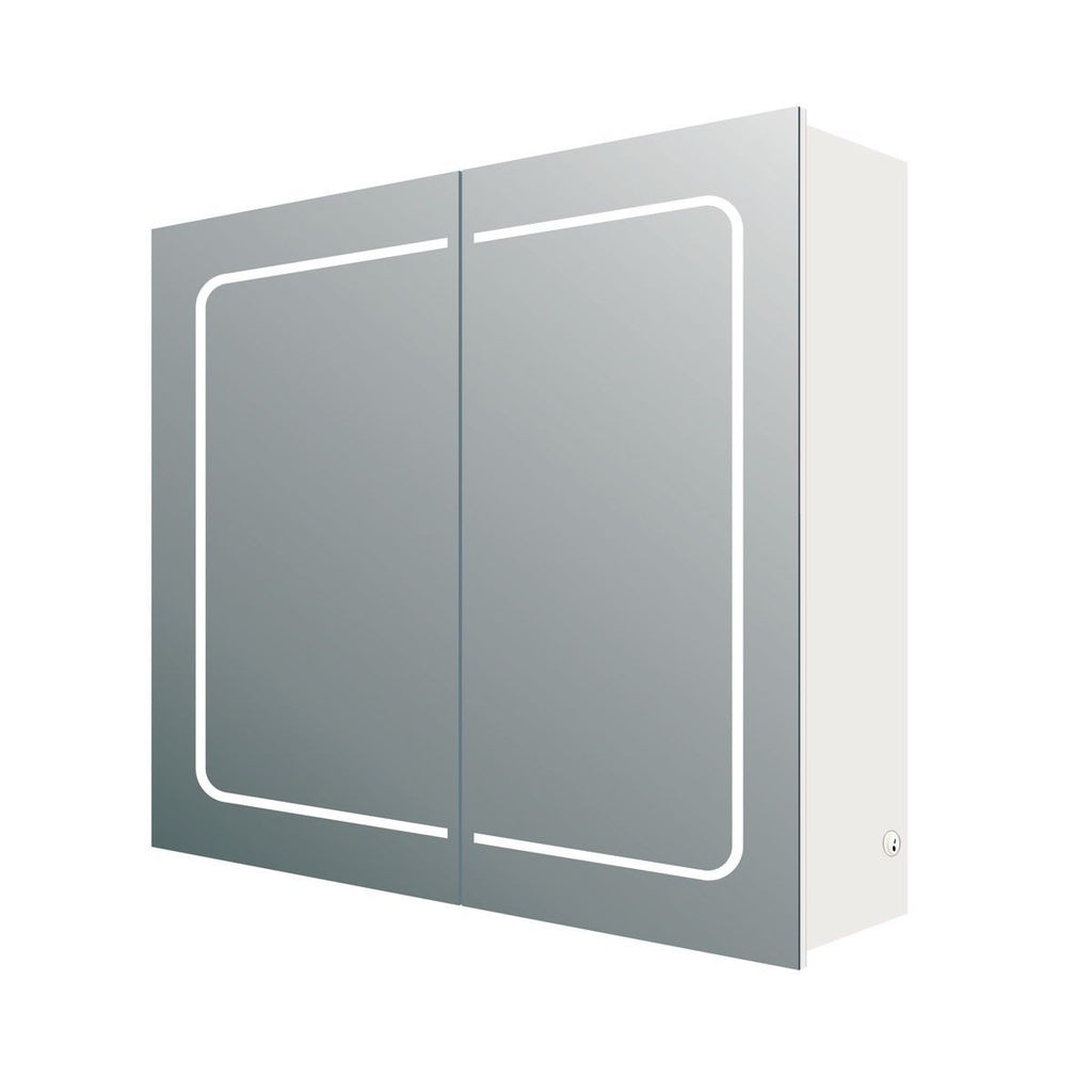 Sammy Double Door LED Mirrored Wall Cabinet 630x600x150mm