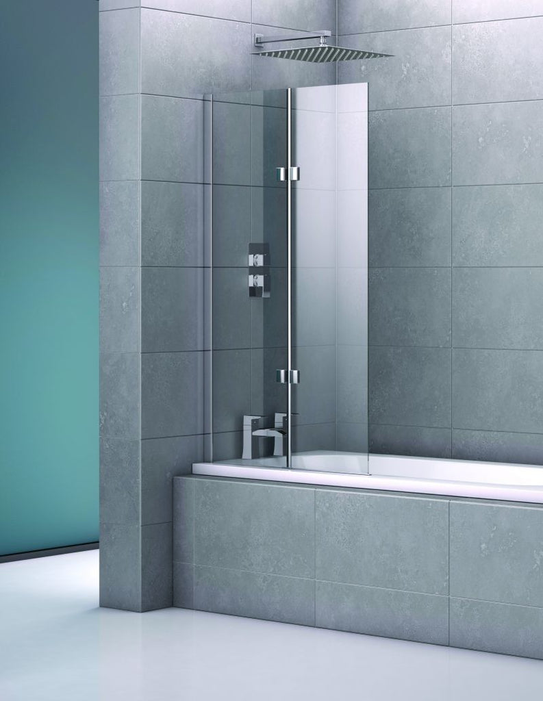 Fourtuna Double Frameless Bath Screen 800x1400mm