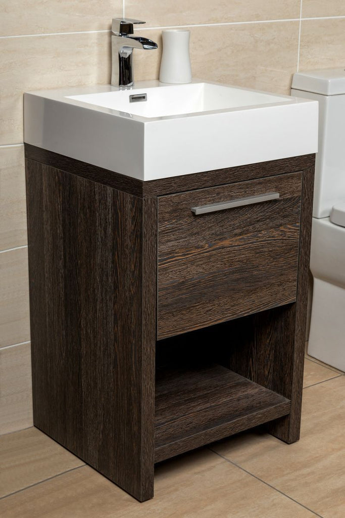 Alton Vanity Unit and basin 500mm In dark oak