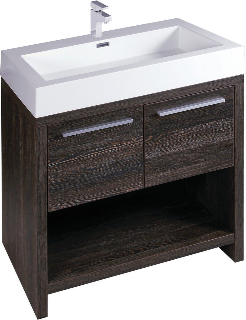 Alton 75 cm Double Vanity with Double Basin Dark Oak