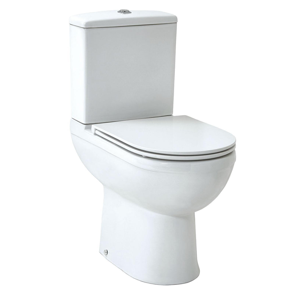 Emma Raised Comfort Height WC Pan,Cistern & Soft Close Seat