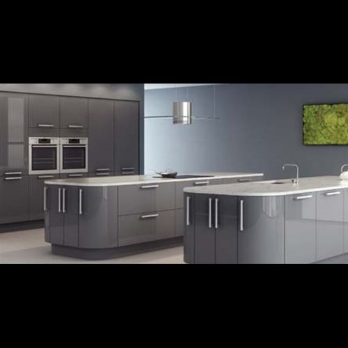 7 Piece Kitchen Units - Gloss Charcoal Grey - BRAND NEW -18mm Rigid Built
