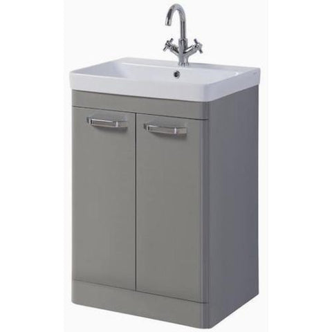 Avenue 500mm Basalt Grey Bathroom Furniture- Mirror, Vanity, WC, Side Unit - K