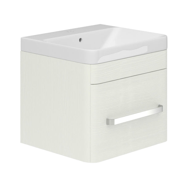 Saturn Bathroom Range,Textured White Wall Mounted Vanity,Basin Mirror,WC Unit