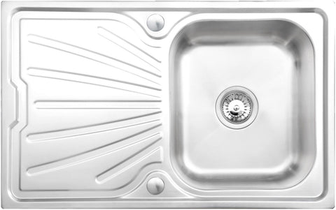 Tamar Compact 1.0 Bowl Stainless Steel Kitchen Sink Deep Bowl