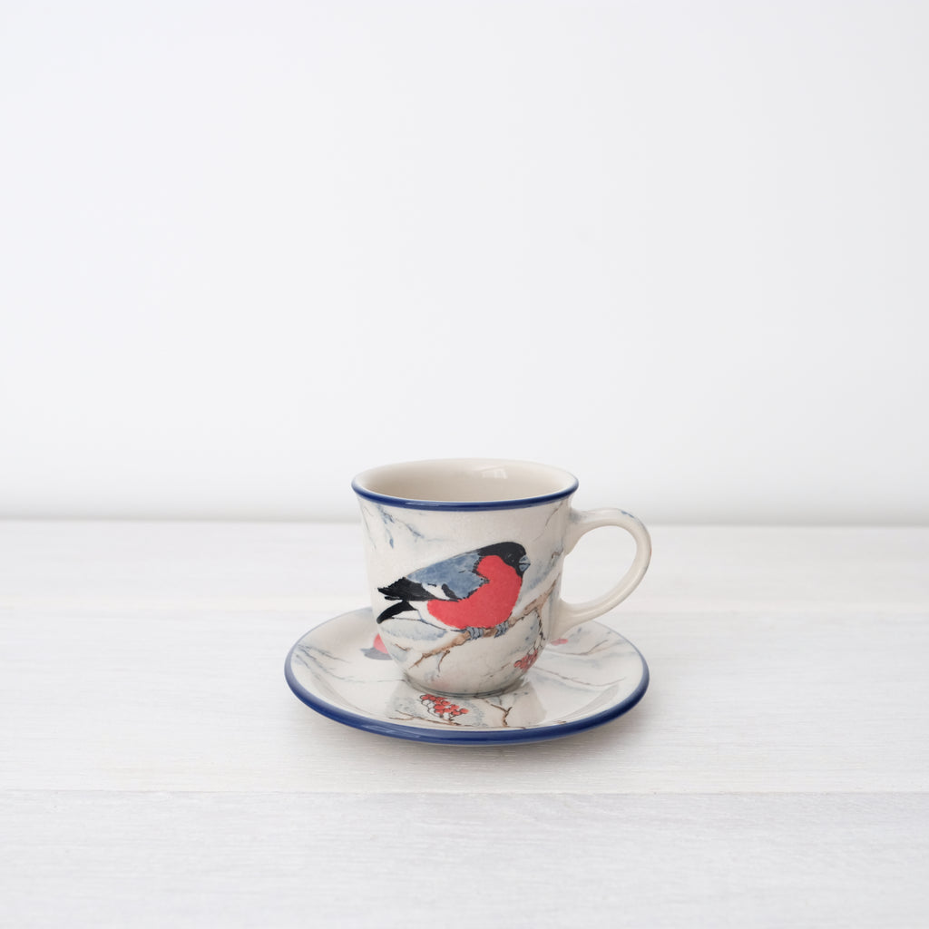 Ceramic Coffee Cup And Saucer | Art Of Pottery