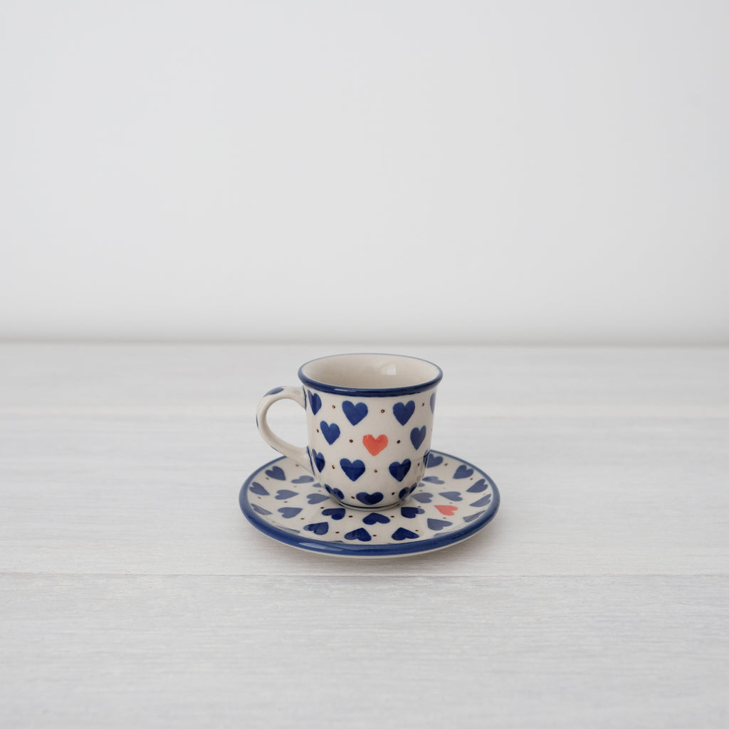Ceramic Espresso Cup And Saucer | Art Of Pottery