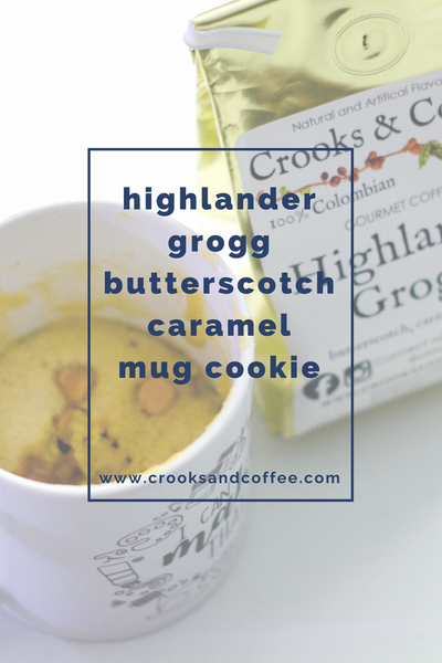 Highlander Grogg Butterscotch Caramel Mug Cookie