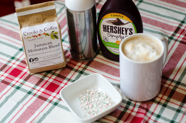Peppermint Mocha Recipe from Crooks and Coffee